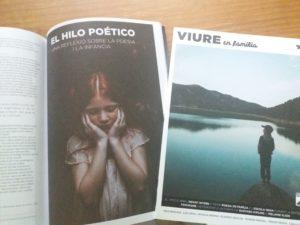 """471f5d377 La revista """"VIURE EN FAMÍLIA"""" (al final tenéis enlace para suscripciones o  saber más sobre ella) para su número de marzo me pidió un artículo sobre  poesía e ..."""